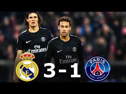Real Madrid 3-1 PSG – Tous les Buts & Résumé complet – 1/8 Final UCL 2017/18