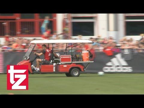 FC Bayern: Hier verletzt sich Kingsley Coman im Bayern-Training