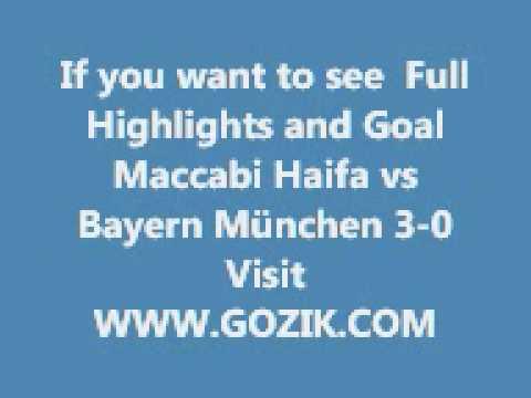 Maccabi Haifa vs Bayern München 3-0 Goals and Highlights 15-09-09 champions league