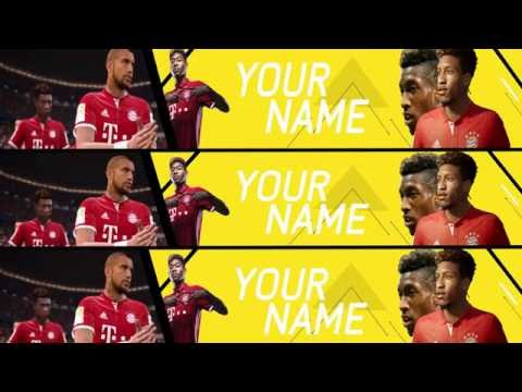 FREE YOUTUBE BANNER TEMPLATE: FC BAYERN FIFA 17 (FREE DOWNLOAD)