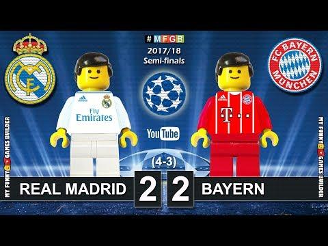 Real Madrid vs Bayern 2-2 • Semi-finals Champions League 2018 (01/05) Goals Highlights Lego Football