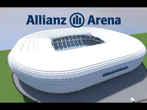 Minecraft – MEGABUILD – Allianz Arena (Bayern München) football Stadium [Official]