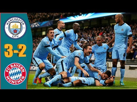 Manchester City vs Bayern München (3-2) | Aguero Hat-trick | Injury Time Winner | UCL 2014/2015