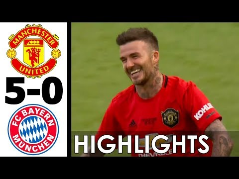 Manchester United vs Bayern Munich 5-0 All Goals and Extended Highlights w/ English 2019 (Legends)