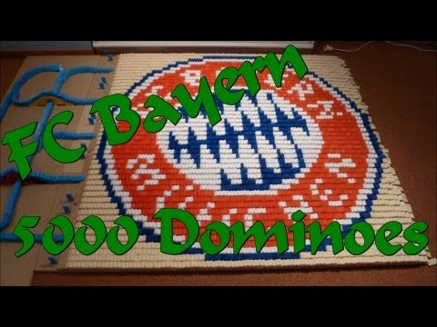 FC Bayern Logo in Dominoes