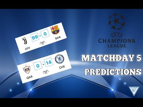 Champions League Predictions | Matchday 5 | (Manchester City, Bayern, Tottenham and more!)