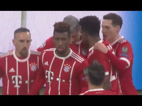 Robert Lewandowski goal Bayern Munich vs PSG 3-1 champions league today 6-12-2017