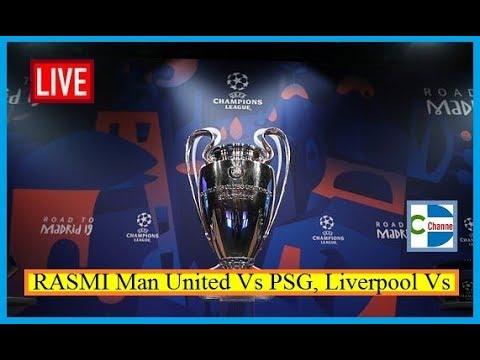 RASMI Man United Vs PSG, Liverpool Vs Bayern Munich Iyo Isku Aadka Wareega 16ka