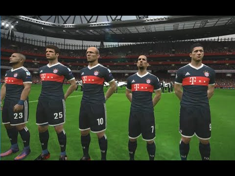 [PC] Arsenal vs FC Bayern Munich – Gameplay Nouveaux Maillots 2018 PES 2017