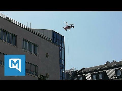 Hubschrauber steht minutenlang im Tiefflug über der Innenstadt – das war der Grund
