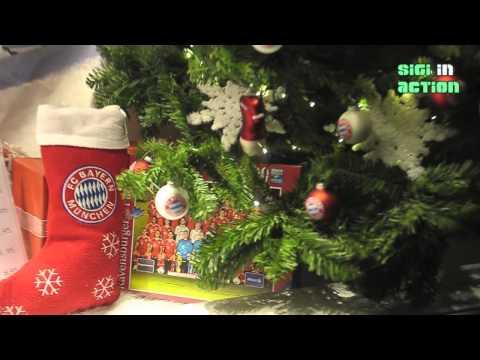 Weihnachtsdeko @ FC Bayern München Fanshop @ Säbener Str.  am 12.11.2013
