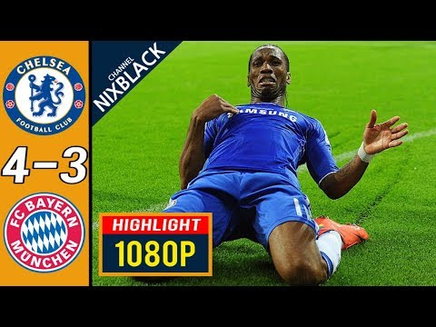 Chelsea 4-3 Bayern Munich 2012 CL Final All goals & Highlights FHD/1080P