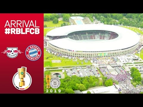 FC Bayern Arrival from Helicopter Perspective | #RBLFCB | DFB Cup Final 2018/19