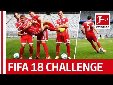 Müller, Hummels & Co. – FIFA 18 Bundesliga Free Kick Challenge – FC Bayern München