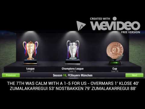 Top Eleven 2017 FCBayern München season 50 History