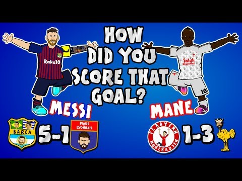 🔥MESSI & MANE vs Lyon and Bayern!🔥 (Barca & Liverpool Champions League 2019 Parody Goals Highlights)