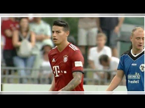 James Rodríguez marcó doblete en goleada 20-2 del Bayern Múnich