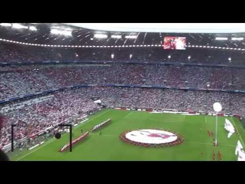 FC Bayern vs. Manchester City – Choreo beim Einlaufen – Audi Cup 2013 [HD]