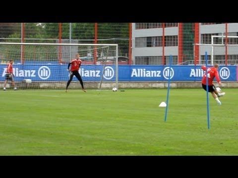 Shooting training | Dribblings | nice Goals – FC Bayern Munich – Robben Dante Kroos Müller