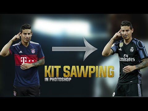 How to Swap Jersey In Photoshop | Photoshop Tutorial | GraphicsD |James Rodriguez | Bayern Munich