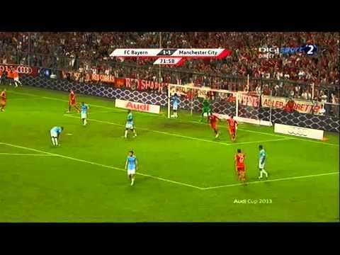 Goal Mandzukic (Bayern Munchen vs. Manchester City 2:1) 1/8/2013