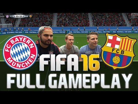 FIFA 16 FULL GAMEPLAY FC BAYERN MÜNCHEN vs FC BARCELONA 2 vs 1 [HD+ 60FPS PS4 / XBOX ONE]