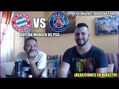 BAYERN MUNICH VS PSG 3-1 | REACCIONES EN DIRECTO | CHAMPIONS LEAGUE 5/12/2017