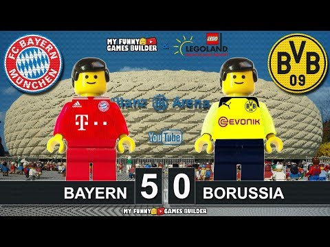 Bayern vs Borussia Dortmund 5-0 thanks LEGOLAND • Bundesliga 2019 All Goals Highlights Lego Football