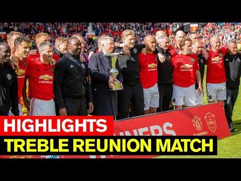 Treble Reunion Match   Manchester United v FC Bayern Legends   Highlights   Beckham, Neville, Butt