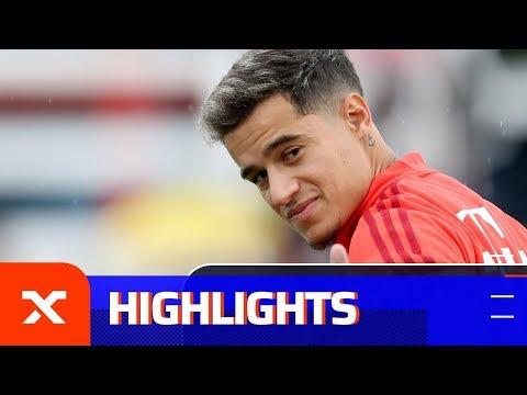 Das erste Training von Philippe Coutinho beim FC Bayern | First training of Coutinho at Bayern