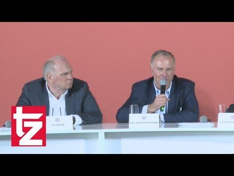 FC Bayern Führungsriege enthüllt Leistungszentrum für den Nachwuchs
