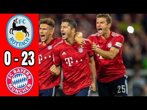 Hasil bola tadi malam Rottach egern vs Bayern munchen 0-23 All goals & Highlight