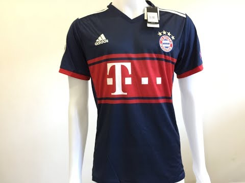 2017 18 Bayern Munich away soccer jersey with UEFA patch