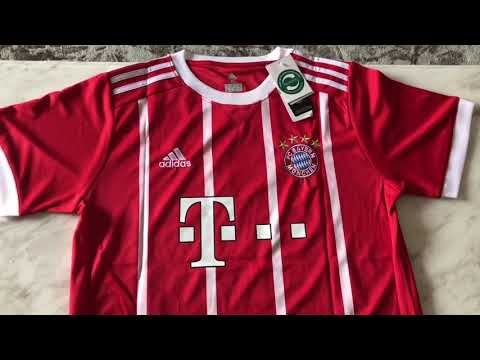 2017 2018 Bayern munchen #9 lewandowski home jerseys unboxing