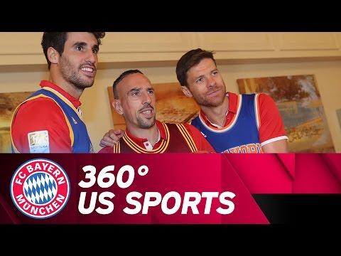 360° FC Bayern vs. NBA Basketball & First Pitch Lahm | #AudiFCBTour