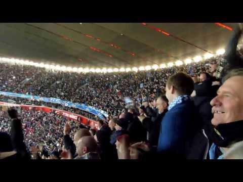 Bayern Munich v Manchester City 10 Dec 2013 – Milner winning goal plus applause