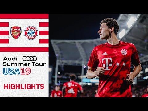 Pavard and Arp with FC Bayern debut! |Arsenal FC vs. FC Bayern 2-1 | Highlights – ICC 2019