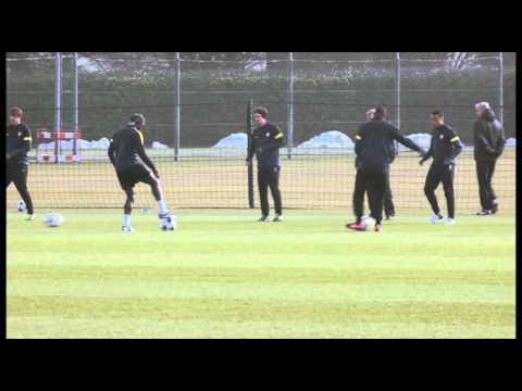 Arsenal training ahead of home leg of Bayern Munich test