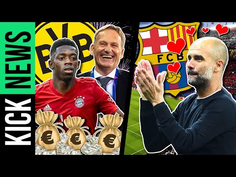 Darum hofft Dortmund auf Dembélé-Transfer zu Bayern! Guardiola zurück zu Barça? | KickNews