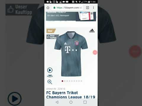 FC Bayern neues Champions League Trikot 18/19