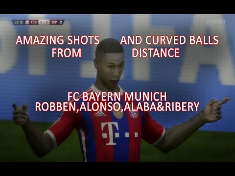 FIFA15 Amazing Shots And Curved Balls From Distance FC BAYERN MUNCHEN players