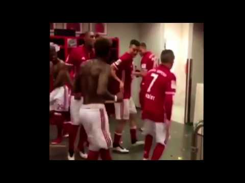 BAYERN PLAYERS DOING THE RUNNING MAN CHALENGE AFTER WINNING TITLE ✔2017