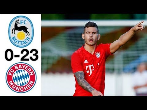 ROTTACH-EGERN BAYERN MUNICH 0-23 ● Lucas Hernandez  Debut for Bayern Munich ●ALL GOALS HIGHLIGHTS
