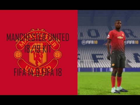Manchester United 18-19 Home Kit (Official Version) [FIFA 14 & FIFA 18]