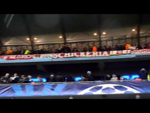 Bayern Fans singing against Manchester City 7 Dec 2011