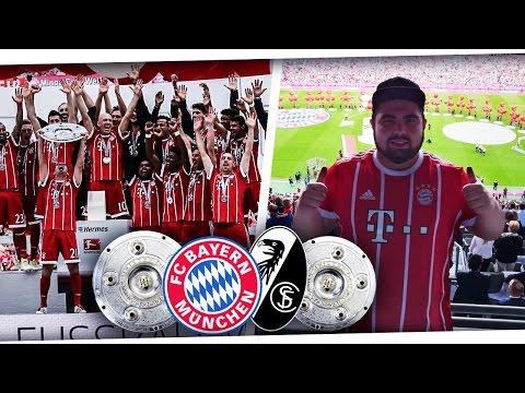 FC BAYERN MEISTERFEIER⚽ & LETZTES SPIEL VON LAHM & ALONSO!😨 FC BAYERN MÜNCHEN VS SC FREIBURG PMTV