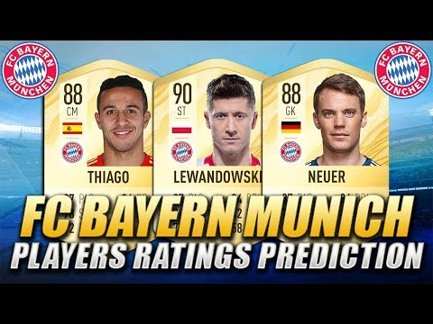 FIFA 20 | FC BAYERN MUNICH PLAYERS RATINGS PREDICTION | w/ Lewandowski, Neuer & Thiago Alcantara