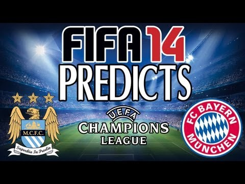 FIFA 14 Predicts Manchester City v Bayern Munich (2nd October 2013)