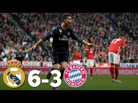 Bayern Munich Vs Real Madrid 3-6 All Goals & Highlights 2017 HD