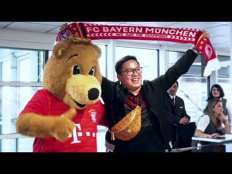Celebrations with FC Bayern München at Munich Airport